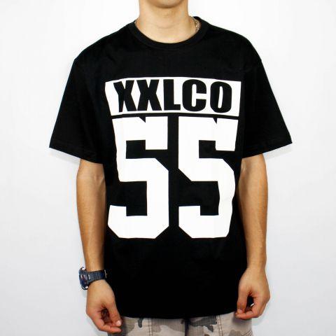 Camiseta XXL Logo CO 55 - Preta/Branca