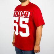Camiseta XXl Logo Co 55 - Vermelha/Branco