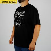 Camiseta XXL Preta Logo Veludo Tamanho Especial