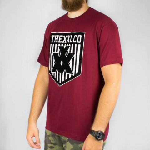 Camiseta XXL Logo Veludo - Vinho/Preto