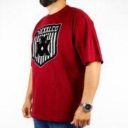 Camiseta XXL Vinho Logo Veludo (Tamanho Especial)