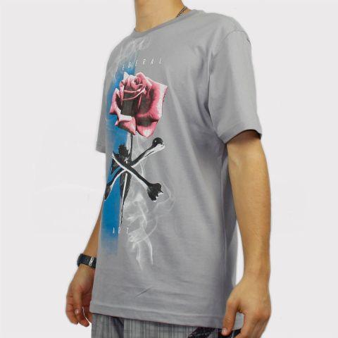 Camisetas Federal Art Rosa - Cinza
