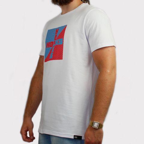 Camisetas Hocks Sinal - Branca/Azul/Vermelha