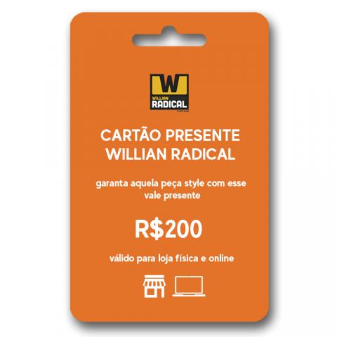 Cartão presente WR R$200