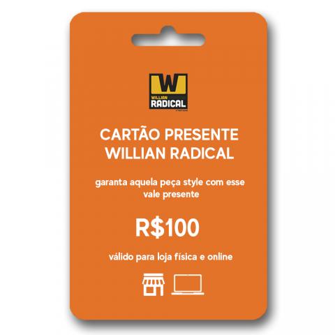 Cartão presente WR R$100