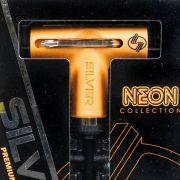 Chave Silver Com Catraca Neon Orange BLK Tool Preta/Laranja