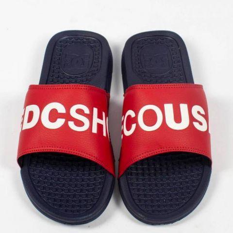 Chinelo DC Shoes Midway SN - Azul Marinho/Vermelho