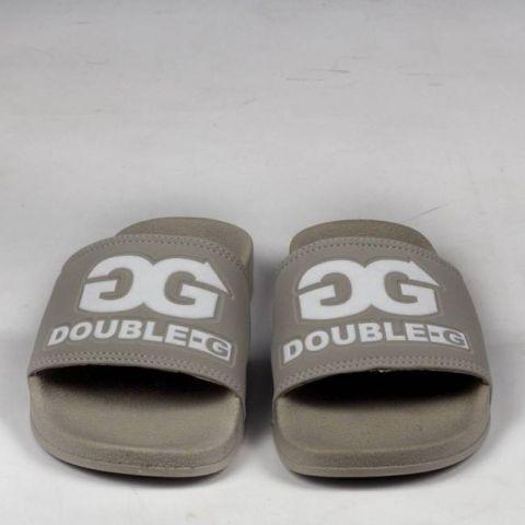 Chinelo Double G Logo Cinza/Branco