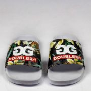 Chinelo Double G Logo - Floral/Branco