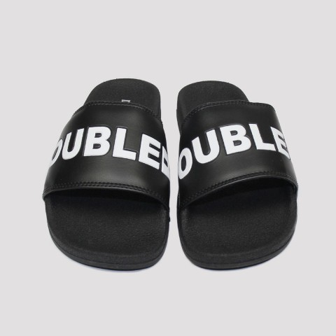 Chinelo Double G Logo - Preto/Branco