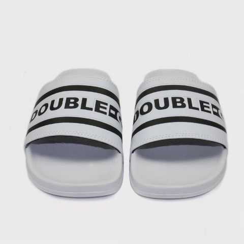 Chinelo Double G Slide Branco Listrado