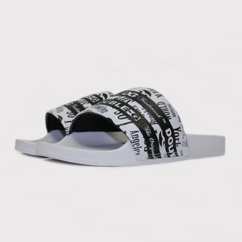 Chinelo Double G Slide Listrado - Preto/Branco