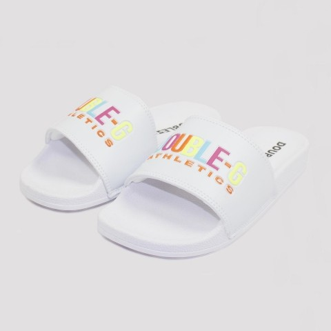 Chinelo Double G Slide Multicolor - Branco