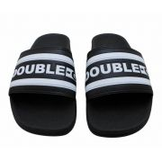 Chinelo Double G Slide Preto Listrado