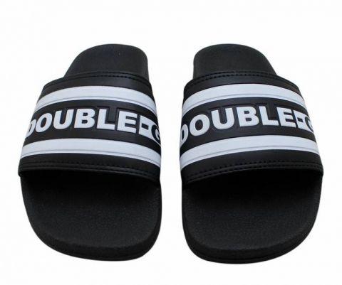 Chinelo Double G Slide Preto Listrado