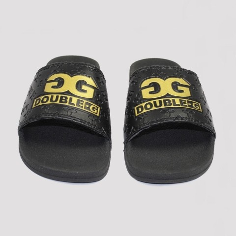 Chinelo Double G Slide  - Preto/ Ouro