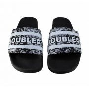 Chinelo Double G Slide Preto Paisley