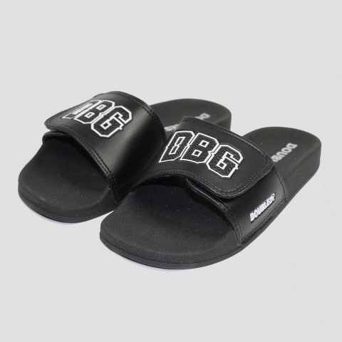 Chinelo Double G Slide Velcro - Preto/ Branco