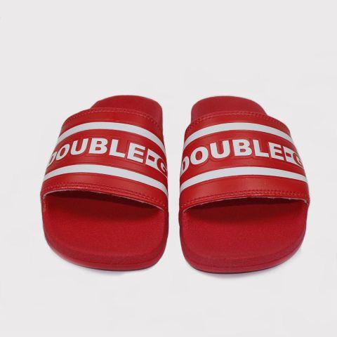 Chinelo Double G Slide - Vermelho/Branco