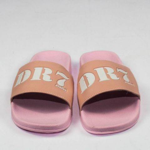 Chinelo DR7 Street Slide - Rosa/Branco