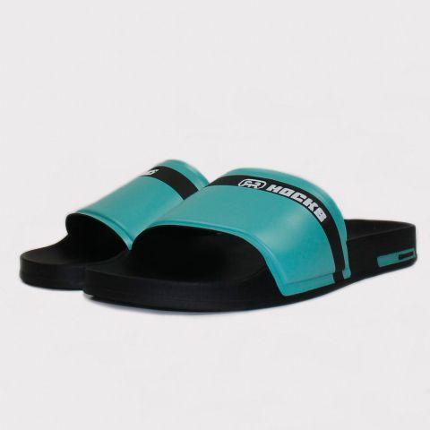 Chinelo Hocks Slide - Azul Bebê/Preto