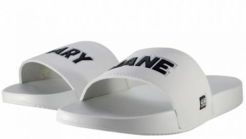 Chinelo Mary Jane Slide MJ White