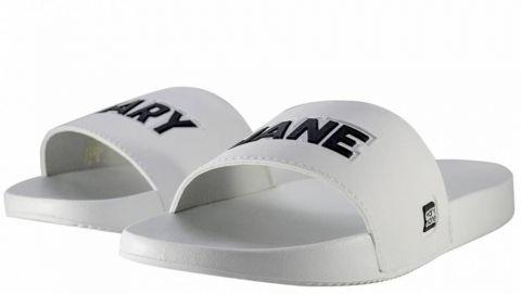 Chinelo Mary Jane Slide MJ White