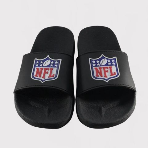 Chinelo NFL Logo National Football League Slide - Preto