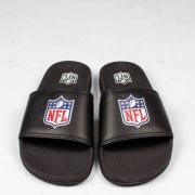 Chinelo NFL Slide Logo Football Preto