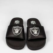 Chinelo NFL Slide Raiders Preto/Branco
