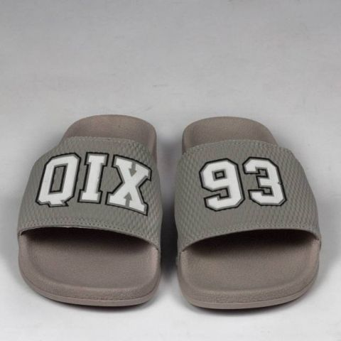 Chinelo Qix 93 Slide - Cinza/Branco