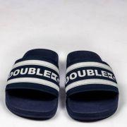 Chinelo Double G Branco/Azul Marinho
