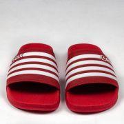 Chinelo Qix Slide Listrado Vermelho/Branco