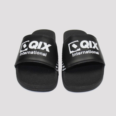 Chinelo Qix Logo - Preto/Branco