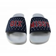 Chinelo Qix Missy Slide Branco/Marinho Estrelado