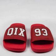 Chinelo Qix Slide 93 Vermelho/Branco