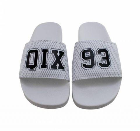 Chinelo Qix 93 Slide - Branco/Preto