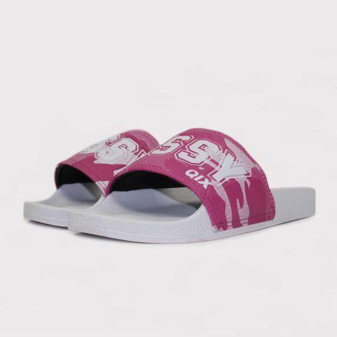 Chinelo Qix Slide - Branco/Camuflado/Rosa