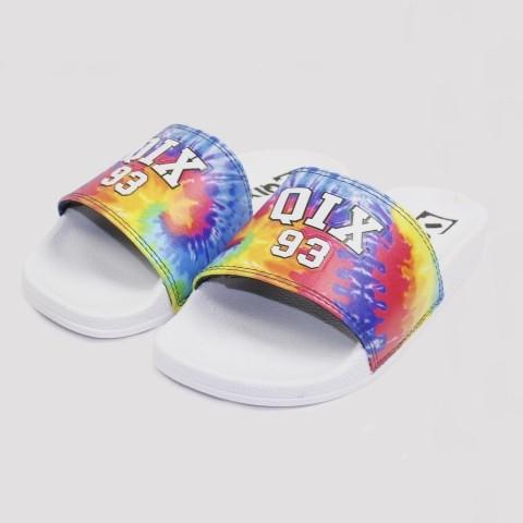 Chinelo Qix Slide - Branco/ Tie Dye