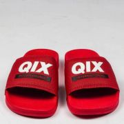Chinelo Qix Slide Vermelho/Branco/Preto