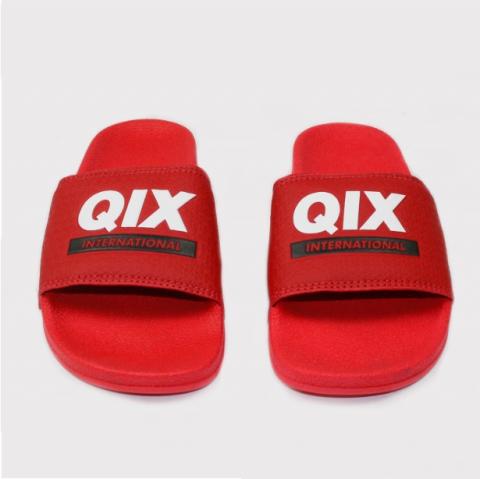 Chinelo Qix - Vermelho/Branco/Preto
