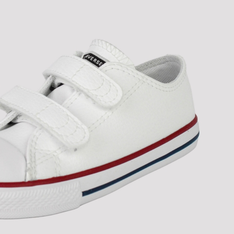 Tênis Converse All Star Chuck Taylor  2V Kids Couro Infantil  - Branco