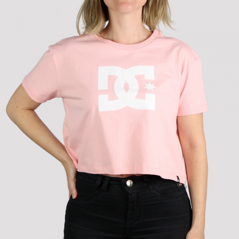 Cropped DC Shoes Star - Rosa Claro