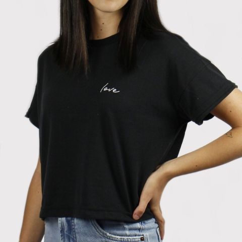 Cropped Lerrux Love  - Preto