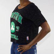 Cropped NBA Celtics - Preta Mescla/Verde