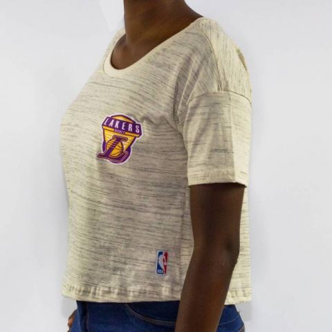 Cropped NBA Lakers - Natural Mescla