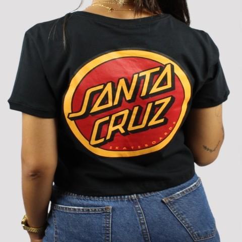 Cropped Santa Cruz Dot Ringer - Preta