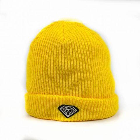 Touca Gorro Diamond Amarelo