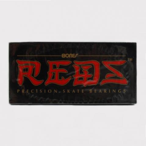Jogo Red Bones 16 Rolamento Cinza/Vermelho
