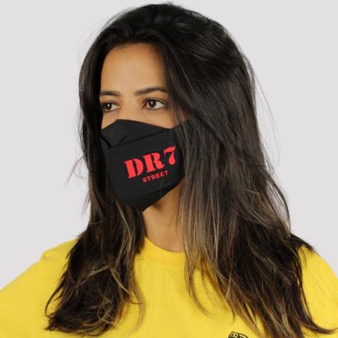 Máscara 3D DR7 Logo Vermelho - Preto
